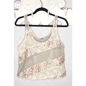 Free people sequin top size M